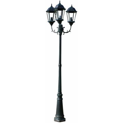 Et 230 Cm Noir Lampadaire Décoration Luminaire Extérieur Triple Vert XTPZwOkiu
