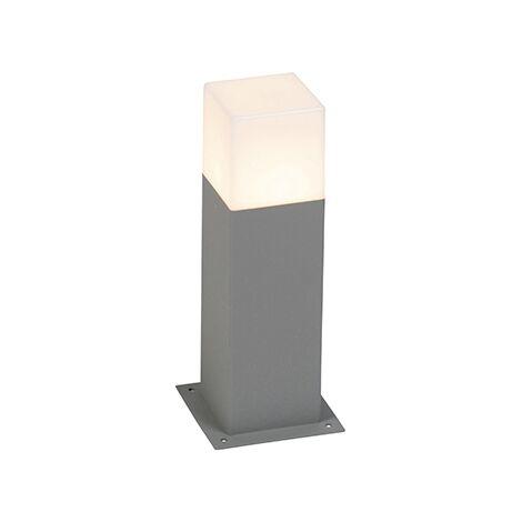 Lampadaire exterieure Moderne 30 cm gris IP44 - Danemark Qazqa Moderne Luminaire exterieur IP44 cube