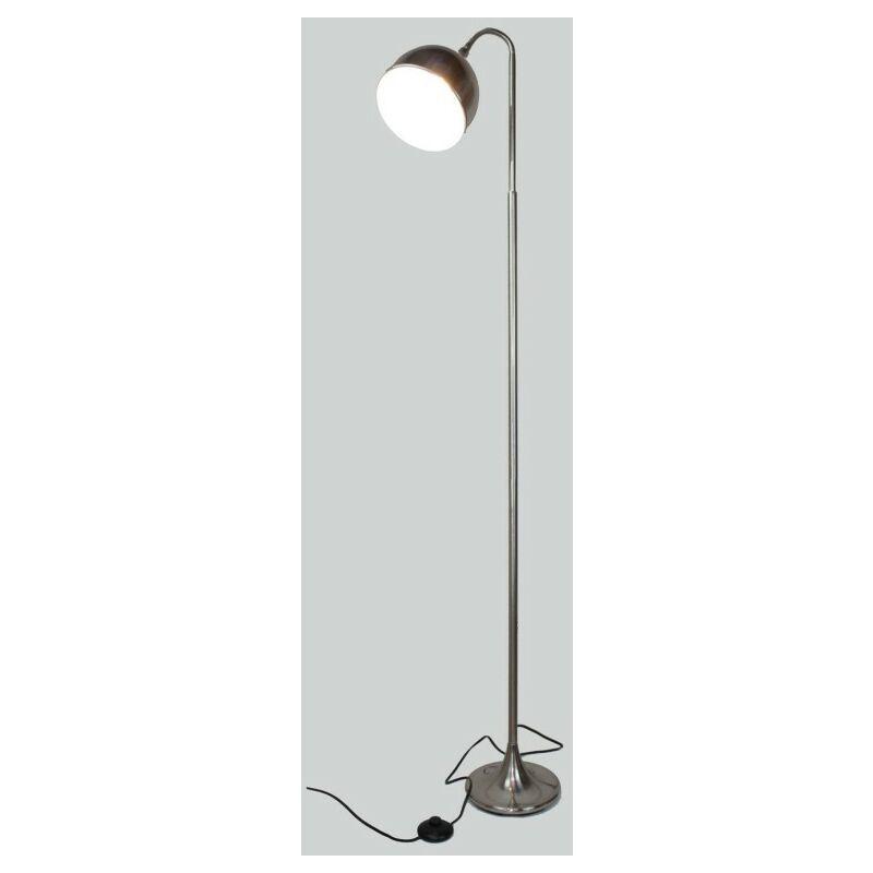 Lampadaire flexible en métal gris finition nickel satiné - Modèle FLEXILUZ - Gris