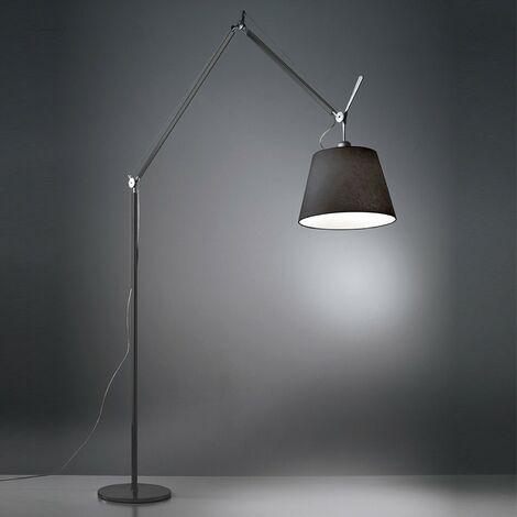 Lampadaire intérieur design LED 31W noir complet (avec abat-jour et base) 3000K 1894lm variateur intégré 230V IP20 TOLOMEO MEGA