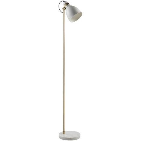 Lampadaire lampe de salon à LED éclairage moderne blanc Quincy Versanora VN-L00059-EU