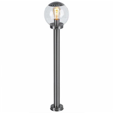 Lampadaire LED 9,5 watts luminaire extérieur lampe lumière inox boule clair éclairage