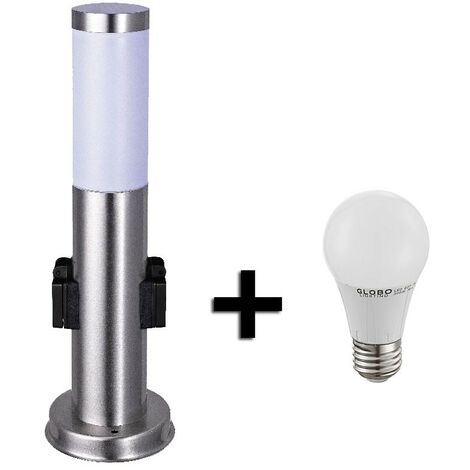 Lampadaire LED acier inoxydable luminaire sur pied lampe DEL éclairage jardin terrasse IP44