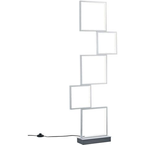 Lampadaire LED ALU stand spot éclairage salon interrupteur DIMMER Trio 427710505