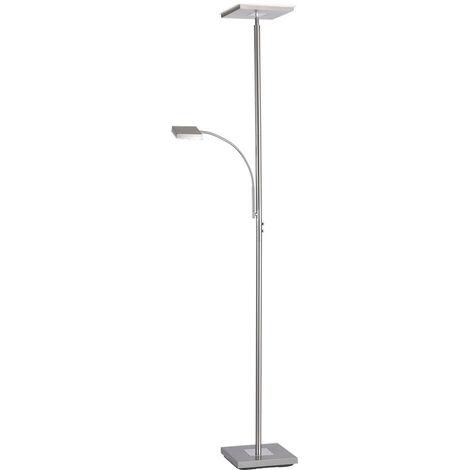 Lampadaire LED avec bras lecture flexible variateur tactile
