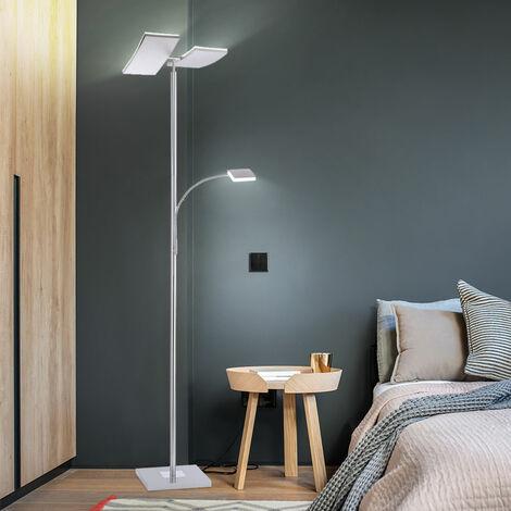 Lampadaire LED avec variateur tactile et spots mobiles RUBEN