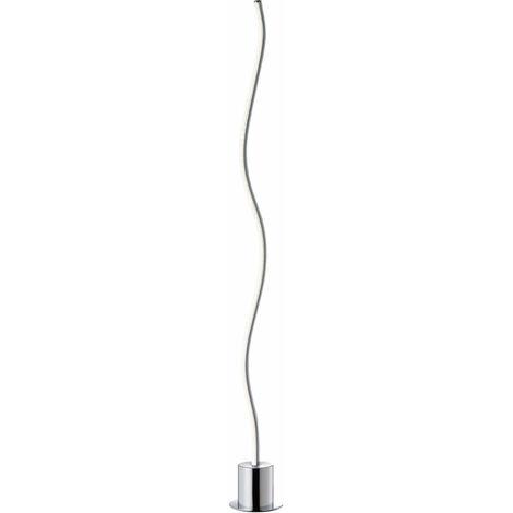 Lampadaire LED design chrome éclairage de salon lampe sur pied courbe Wofi 3194.01.01.6850