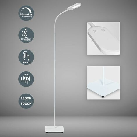 Lampadaire LED design métal orientable flexible intensité couleur réglable