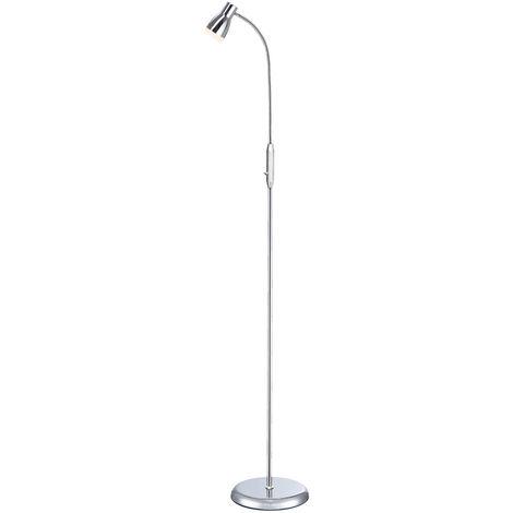 Lampadaire LED design salon éclairage Flexo Spot luminaire sur pied Chrome Esto 762047-1