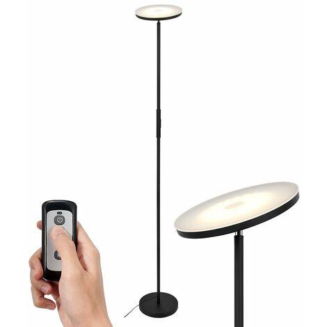 Lampadaire LED dimmable métal avec Contrôle à distance , Température de couleur(3000K/4000K/5000K)