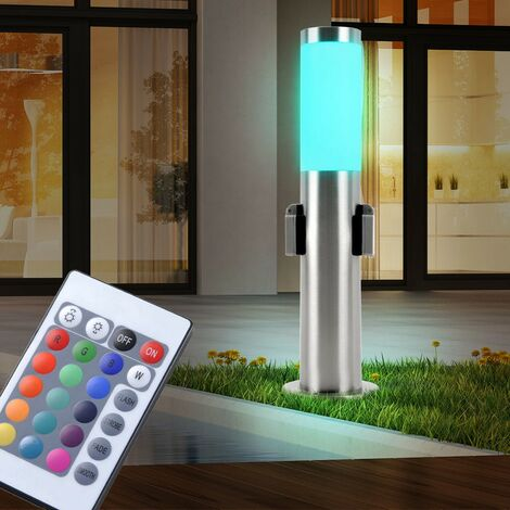 Lampadaire LED RVB luminaire sur pied distributeur de courant jardin terrasse éclairage prise