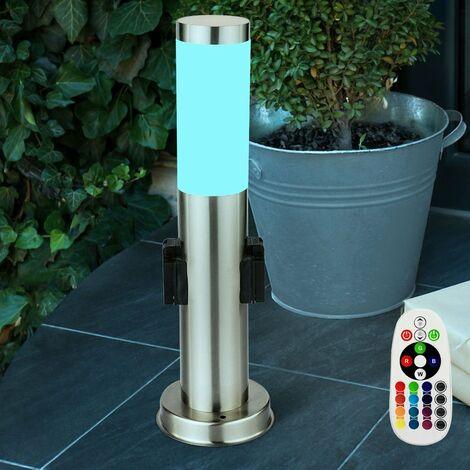 Lampadaire LED RVB luminaire sur pied lampe DEL jardin éclairage terrasse espace extérieur