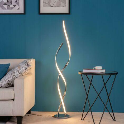 Lampadaire LED Ultra Design - 126 cm Cascada - Argenté / Chromé