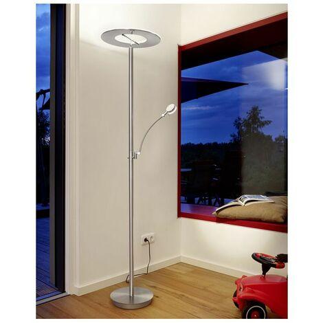 Lampadaire Liseuse LED Variateur Eleganza Argent très lumineux - Argent