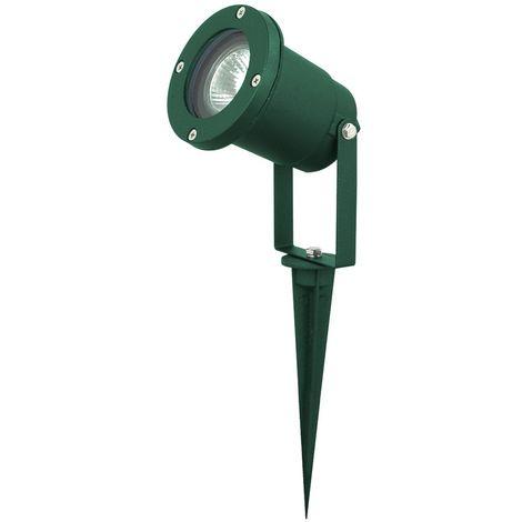 Lampadaire luminaire extérieur borne à piquer terrasse jardin aluminium vert IP44 Harms 103101