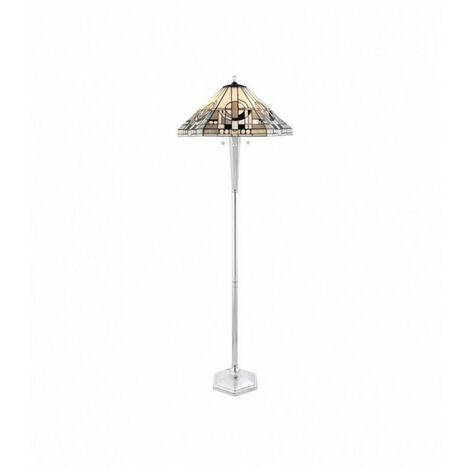 Lampadaire Metropolitan, verre et aluminium
