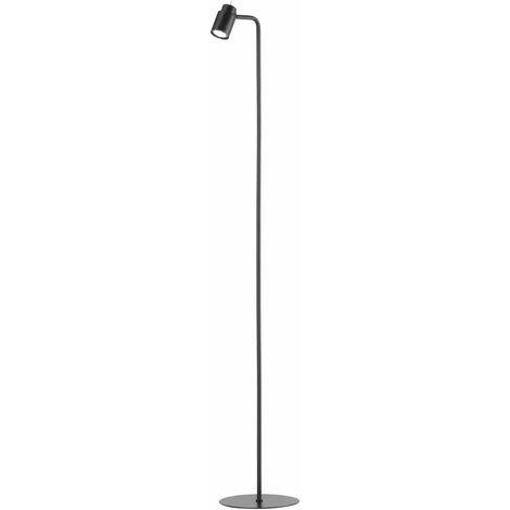 Lampadaire noir mat spot spot lampe sur pied réglable éclairage de chambre Fischer lumières 40260