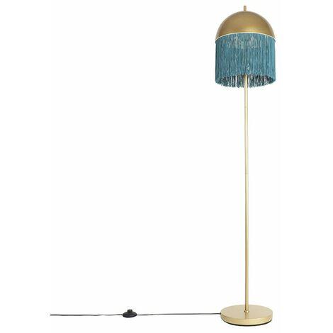 Lampadaire oriental or à franges vertes 30 cm - Fringle Qazqa Oriental Luminaire interieur