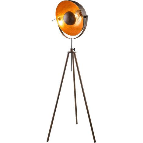 Lampadaire Retro Salon Shine Thrower Spot Spot or rouille hauteur réglable Globo 58307