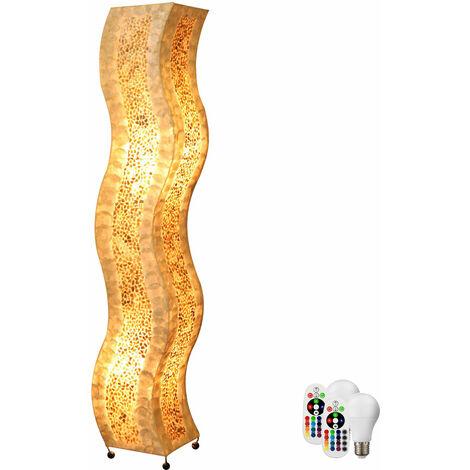 Lampadaire Seashell chambre à coucher télécommande gradateur uplight dans un ensemble comprenant des lampes à LED RGB