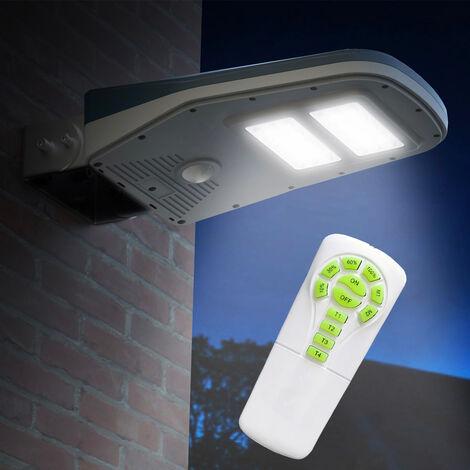 Lampadaire Solaire à LED lampe poteaux d'extérieur avec Télécommande et Panneau Solaire CALLISTO