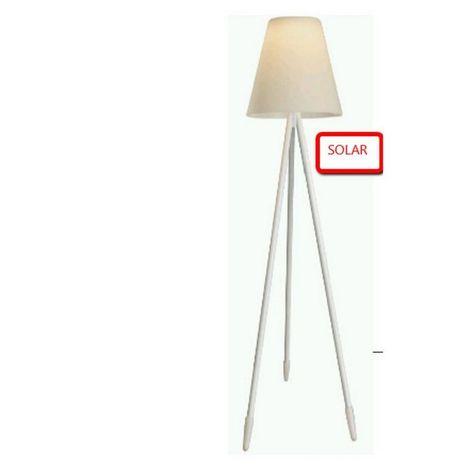 Lampadaire solaire blanc GUARDA - L 60 x l 60 x H 150