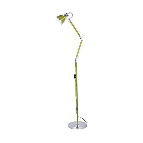 Lampadaire sur pied articulée, liseuse Métal, E27, Vert/chromé Britop Lighting SP-7051103