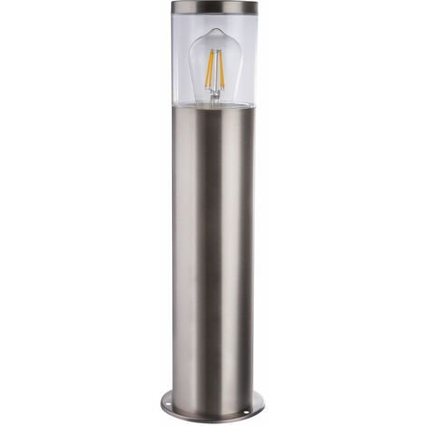 Lampadaire sur pied en acier inoxydable, allée de jardin, éclairage de terrasses, luminaire d'extérieur argent Globo 34019S1