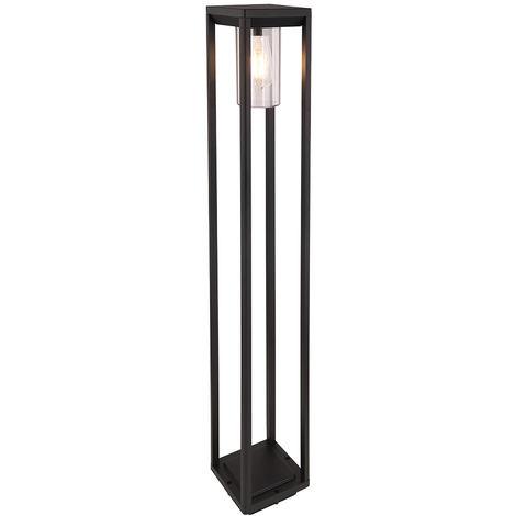 Lampadaire sur pied extérieur ALU noir lampe de jardin mat DIMMABLE dans un ensemble avec éclairage LED RGB