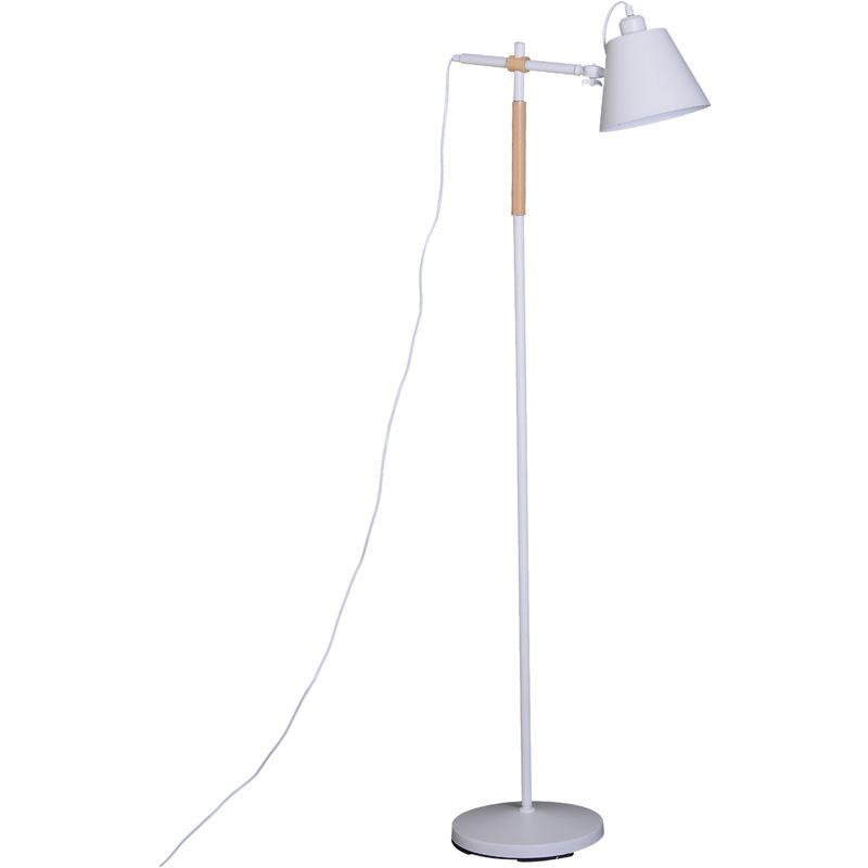 Sur Métal Arc Bois Lampadaire Caoutchouc Design Contemporain Scandinave Pied Orientation Blanc Lumière Réglable yvN8nm0wOP