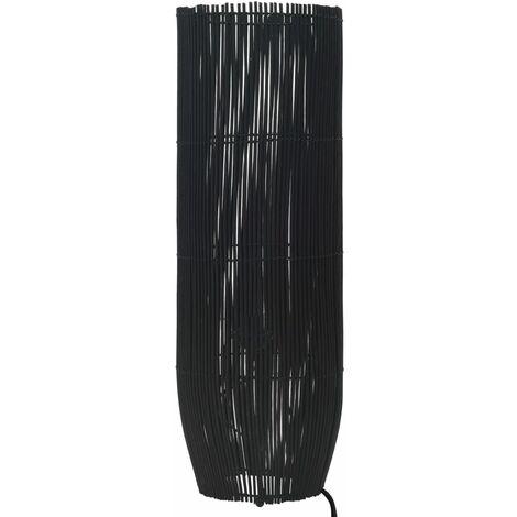 Lampadaire sur pied Osier Noir 84 cm E27
