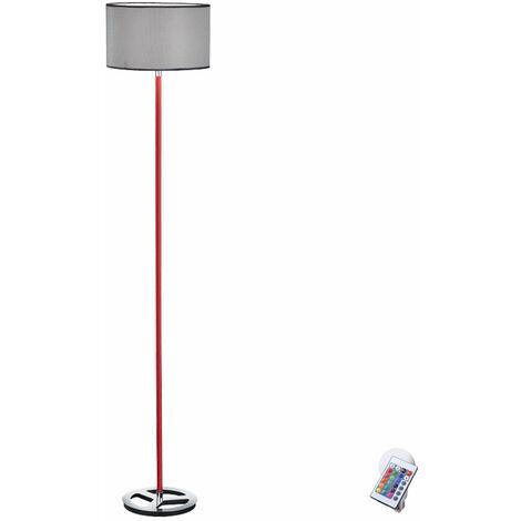 Lampadaire, télécommande, projecteur de plafond, lampe de lecture, textile dans un ensemble comprenant des lampes LED RGB