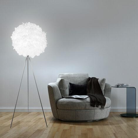 Lampadaire trépied, abat-jour à ressort, hauteur 160 cm