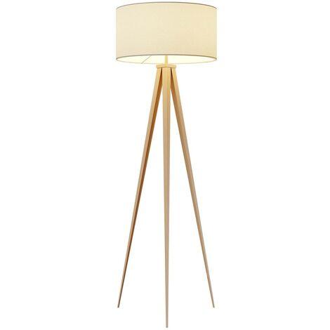 Lampadaire Trepied \'Benik\' en textile pour salon & salle à ...