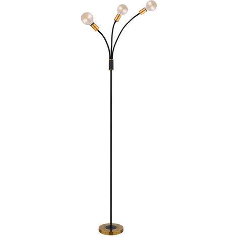 Lampadaire Vintage Luminaire Réglable Living Room Lampe de travail BLACK GOLD Globo 54010-3S
