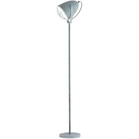 Lampadaire vintage luminaire sur pied gris salle de séjour chambre éclairage spot