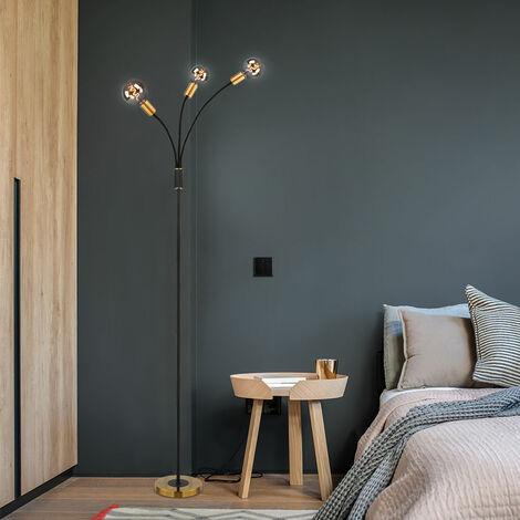 Lampadaire Vintage réglable pour salon BLACK GOLD avec ampoules à LED