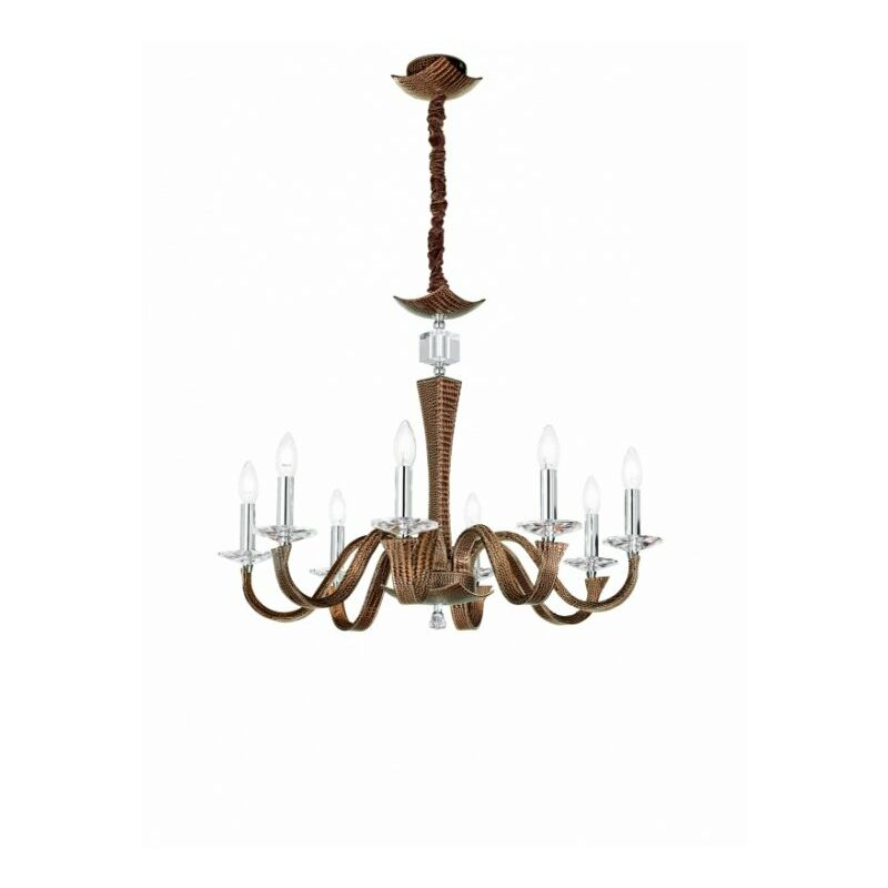 Shop-day - Lampadario a sospensione moro con cristallo decorativo 40 watt E14