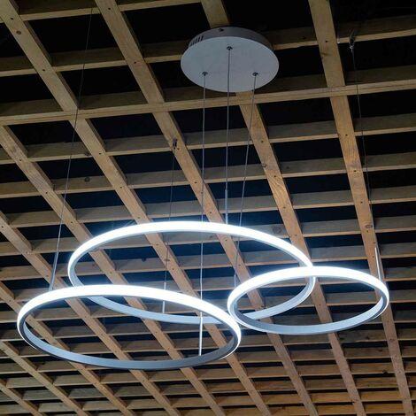 Lampadario a sospensione CERCHI design moderno in alluminio