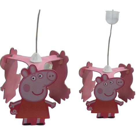 Lampadario a sospensione in legno Peppa Pig