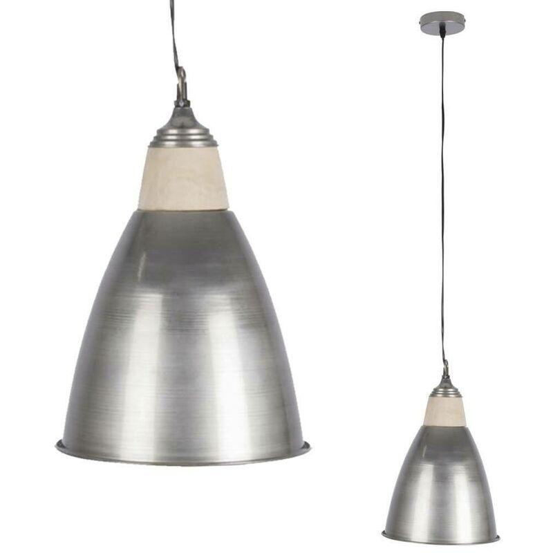 Lampadario a Sospensione Moderno Design Industriale Lampada Paralume in Metallo