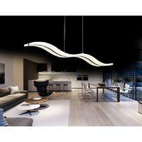Lampadario a sospensione ONDA moderno LED luce calda o fredda in metallo