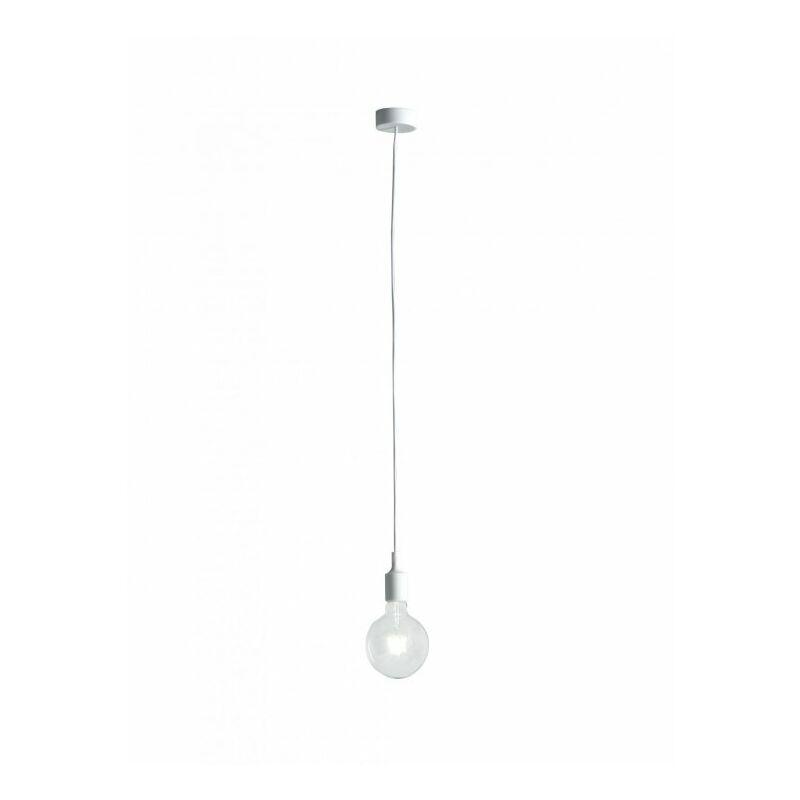 Lampadario sospeso bianco dalla linea essenziale ma moderno 60 watt E27