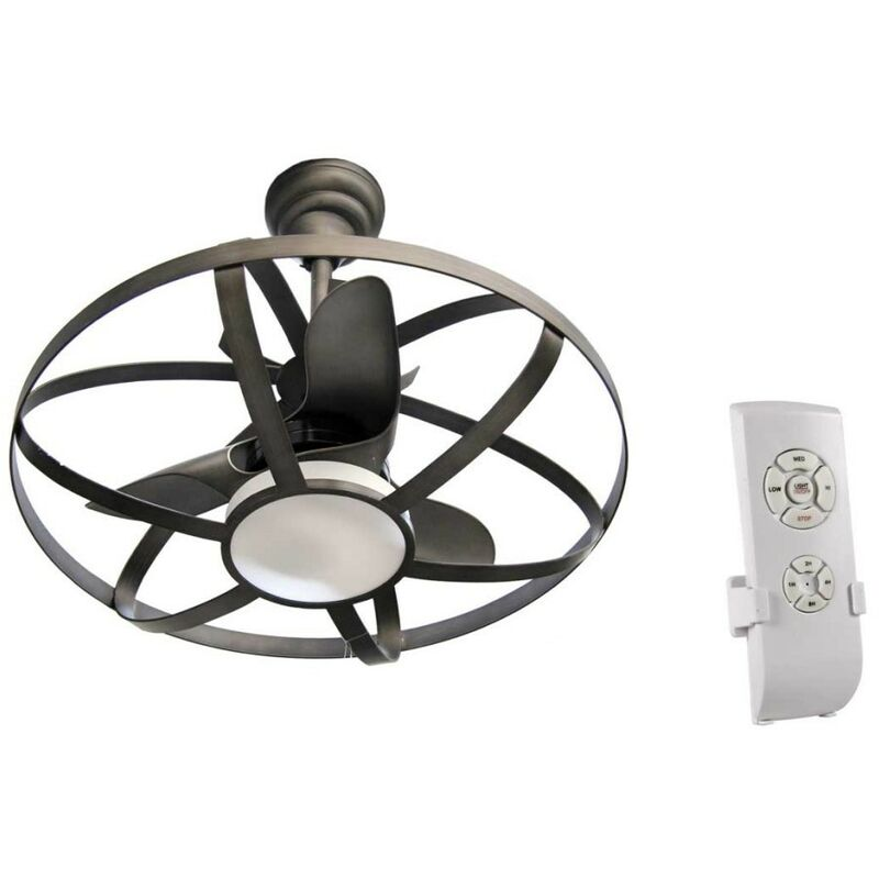 Argonauta - Lampadario con ventilatore a led e telecomando cm 86
