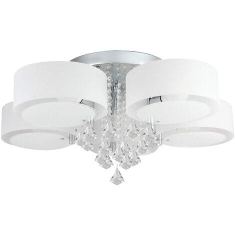 Lampadario da Soffitto con 5 punti luce circolari, elegante illuminazione da soggiorno, camera da letto, salotto