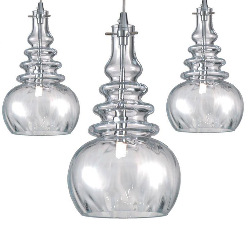 Lampadario moderno due p illuminazione 2661 s3 piastra g9 led vetro sospensione, vetro cristallo