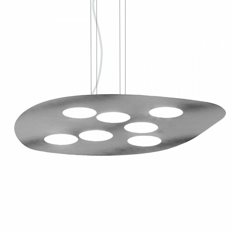 Lampadario gea luce sole sa gx53 led 60x60 biemissione metallo lampada soffitto moderna quadrata - G.E.A. LUCE