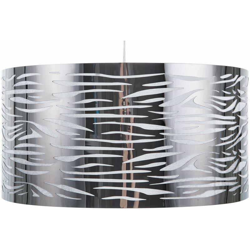 Lampadario in metallo color argento TORNO - BELIANI