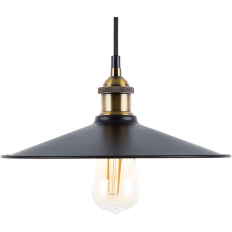 Lampadario in metallo color nero-ottone SWIFT L