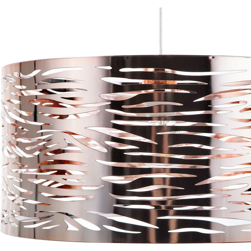 Lampadario in metallo color rame TORNO - BELIANI